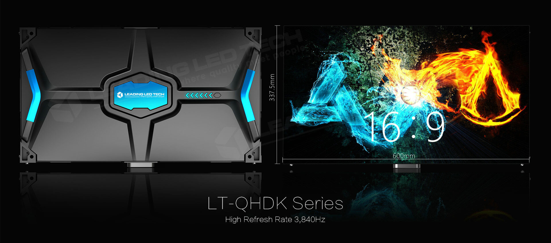 1.2mm 1.5mm1.8mm 2.5mm Pixel Pitch 16:9 HD LED cabinet| LT-QHDK Series| LEADING LED TECH small pixel pitch 16-9 panel
