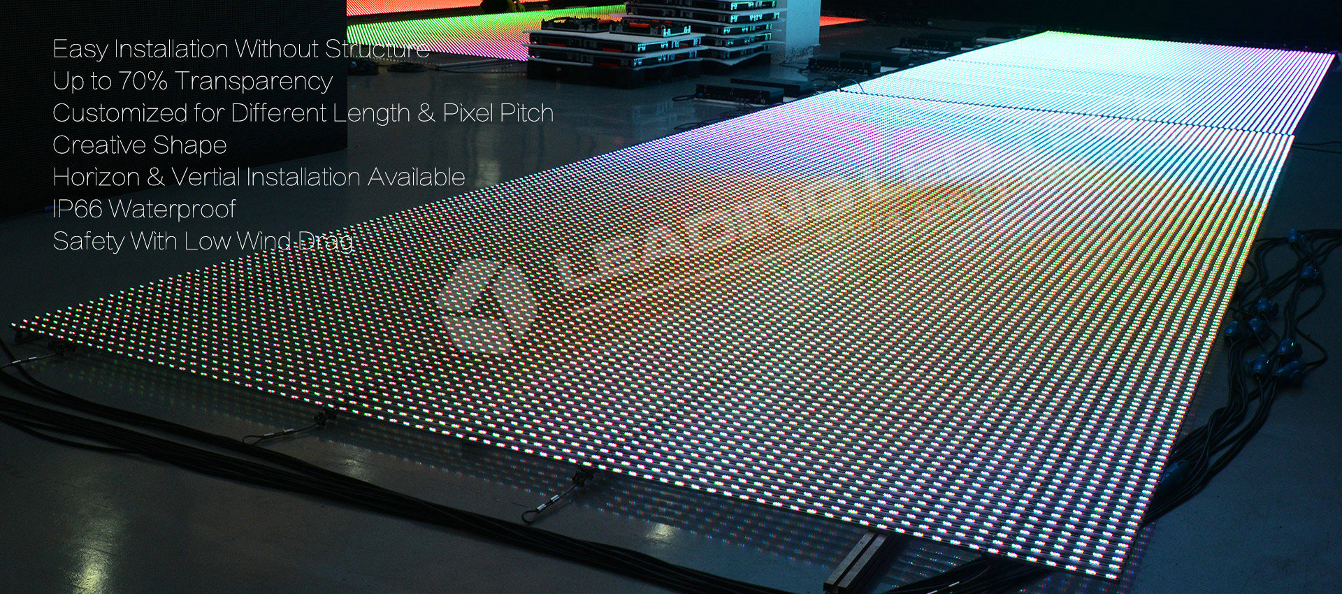 LED display bar highly transparent LED Display bar