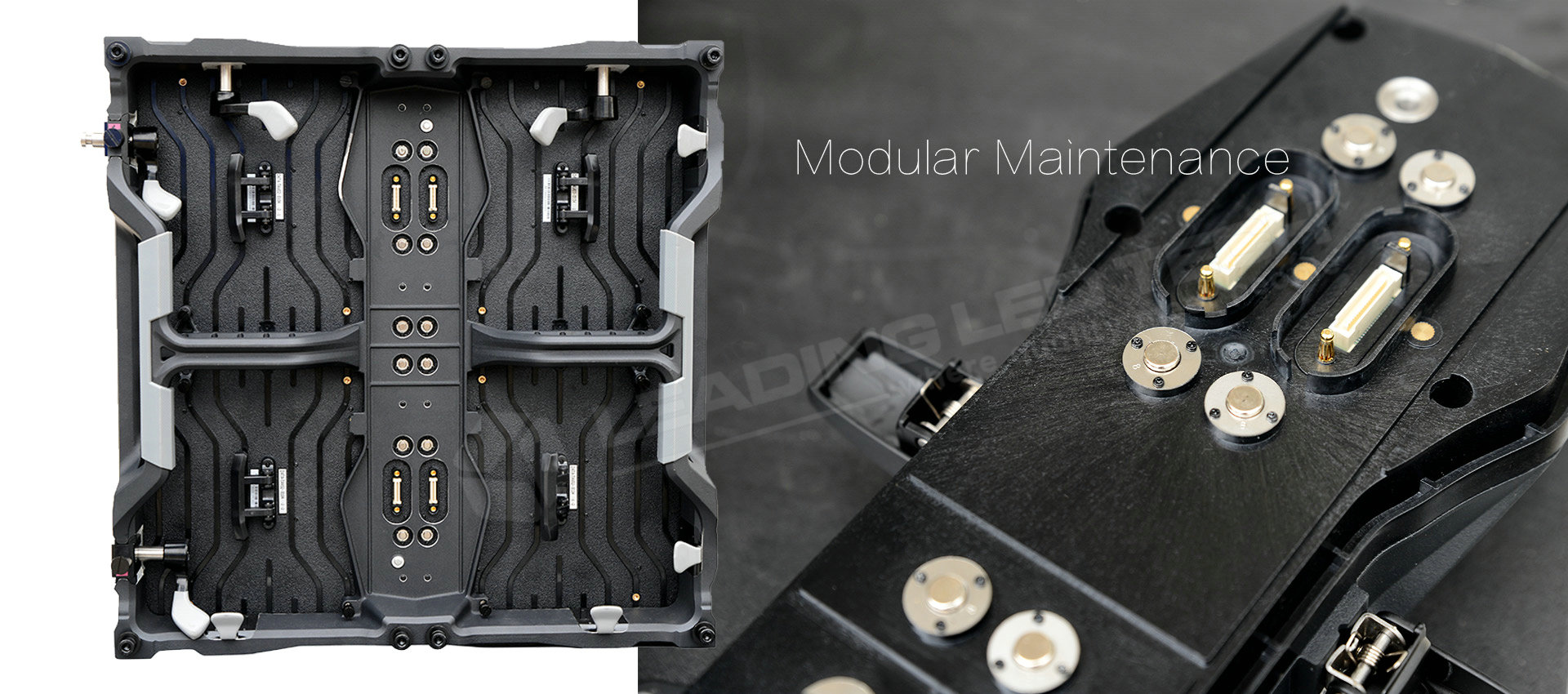 500*500 LED cabinets modular maintenance for the PSU