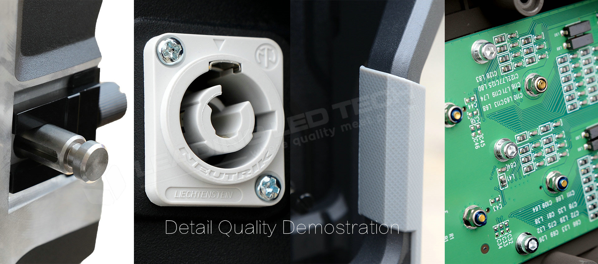 Detail Quality show LED rental cabinet Neutrik Connector 4 layer 1.6mm PCB board Rubber handle