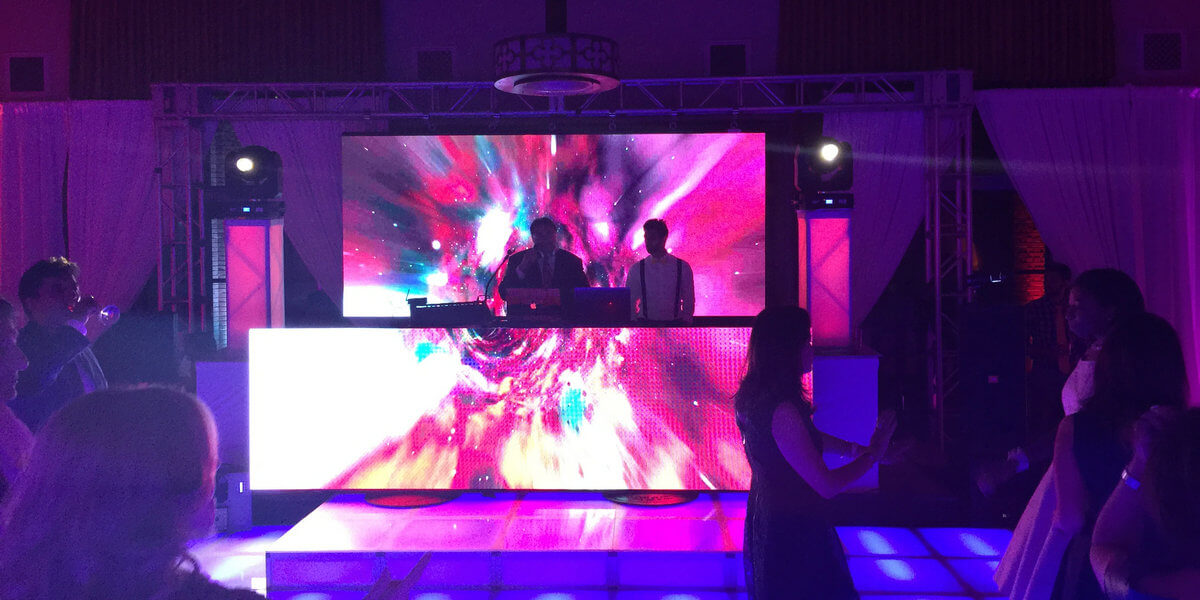 DJ stage LED screen for rental