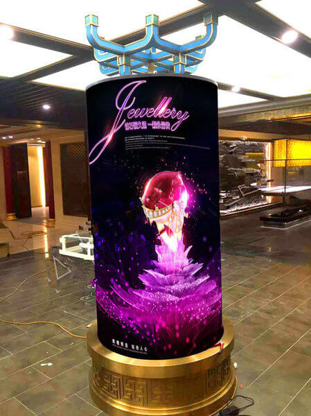 Flexible soft LED display case 2