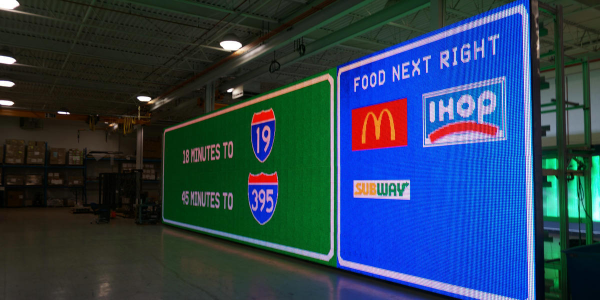 LED Digital Billboard 20mmPixel Pitch 15ftX50ft