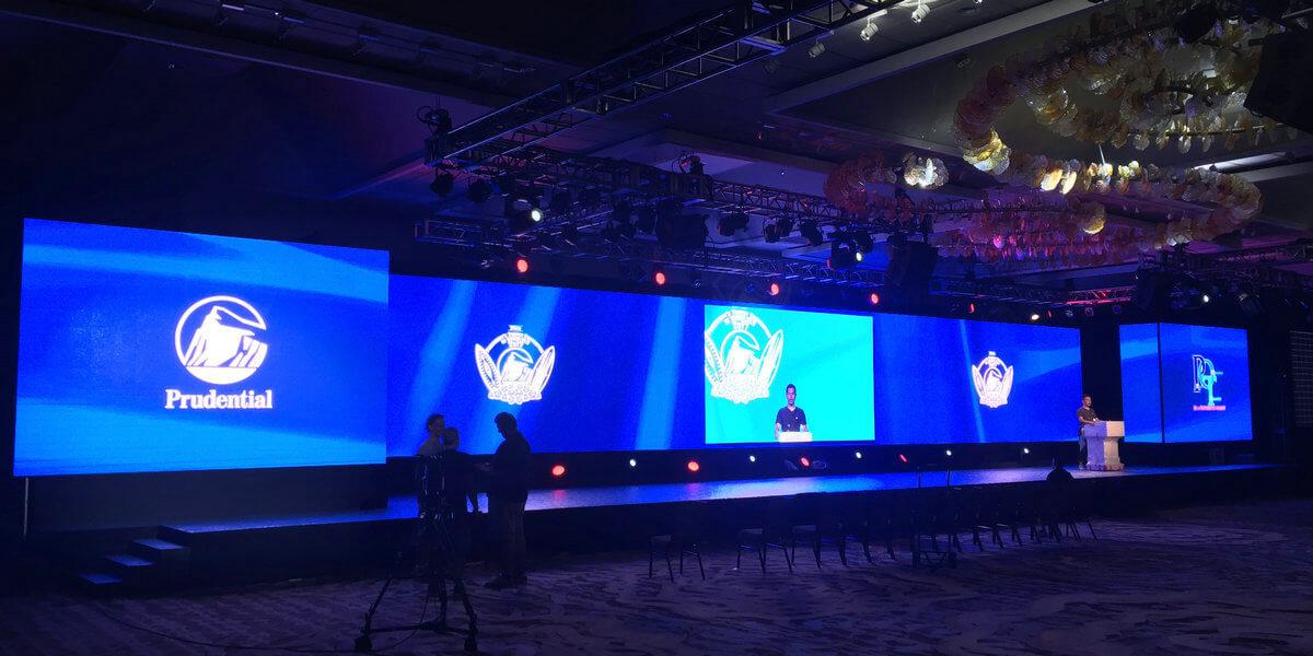 LED Video Wall for University Speech