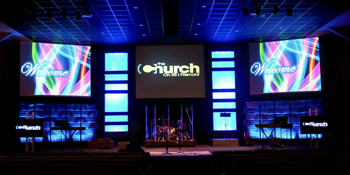 LED display for church