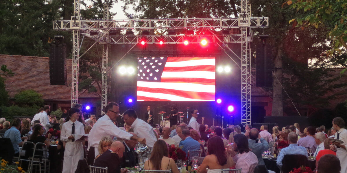 LED display rental business for events