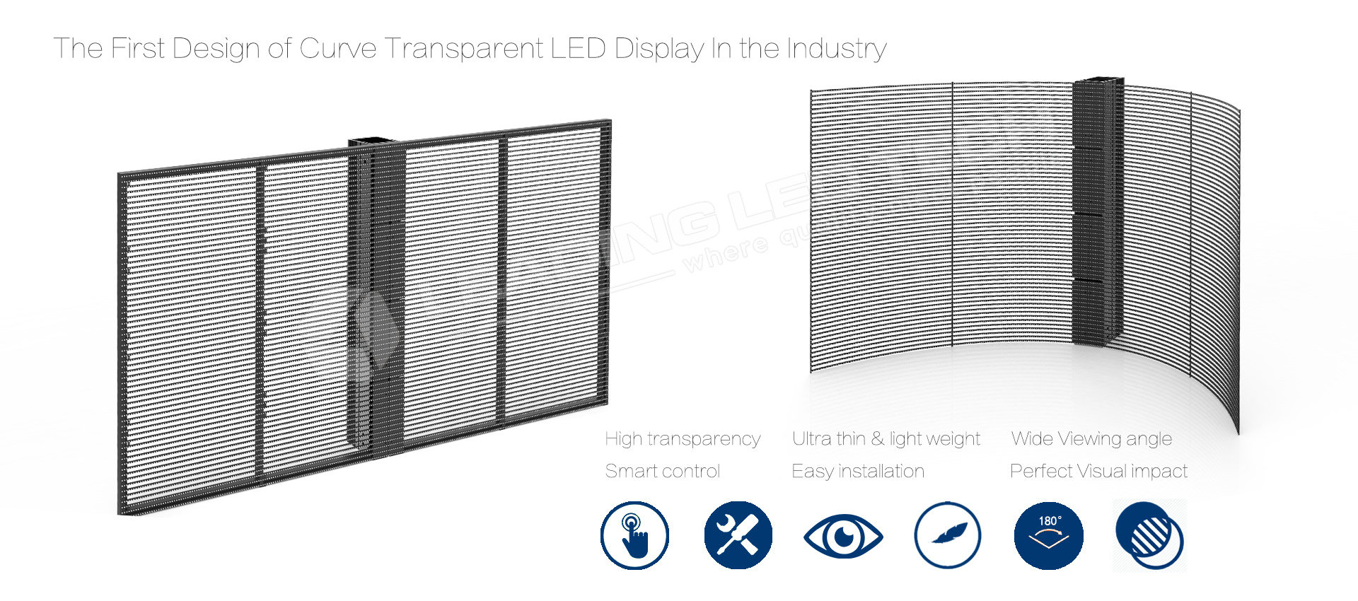 Soft transparent LED display curve transparent LED display