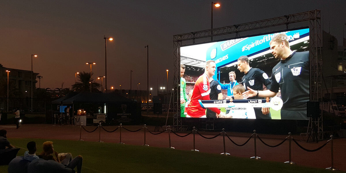 Outdoor LED rental for leisure weekend