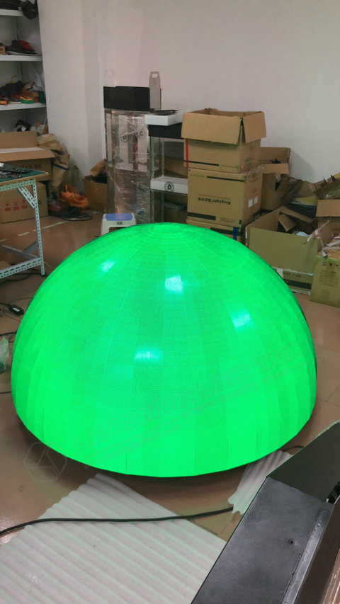 Sphere LED Display-LED ball display manufacture-Green