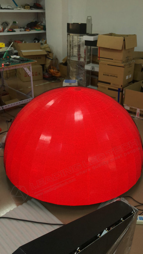 Sphere LED Display-LED ball display manufacture-Red
