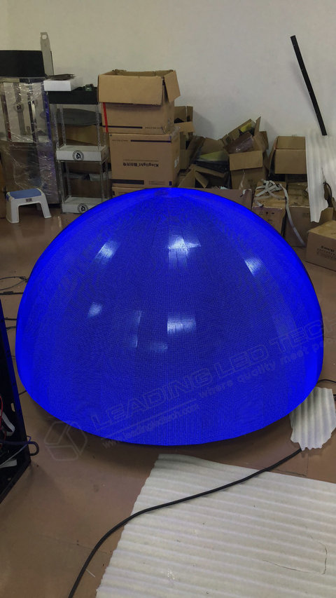 Sphere LED Display-LED ball display manufacture-blue