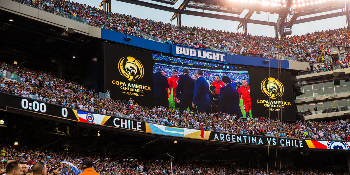 Sports LED Display -Argentina VS Chile