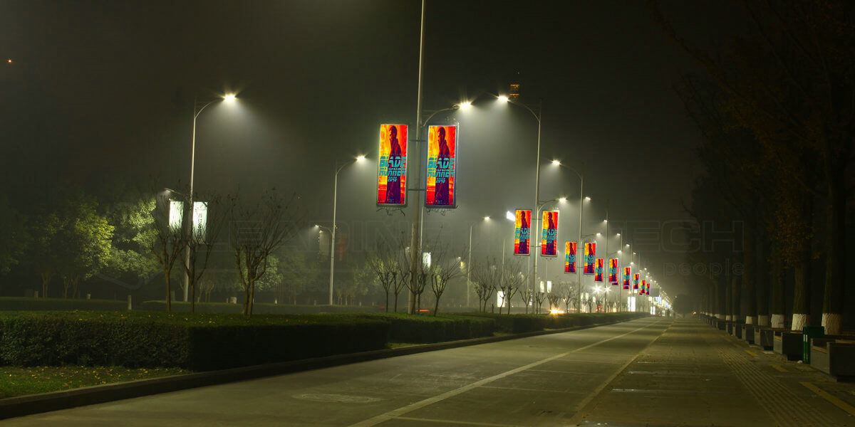Street Light Pole LED Display