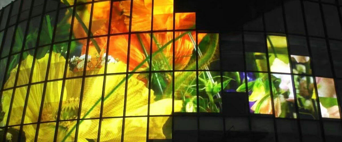 LEADING LED TECH transparent led screen