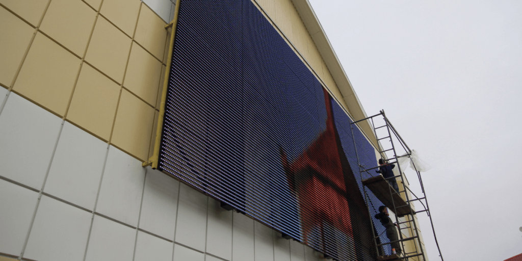 led mesh curtain screen